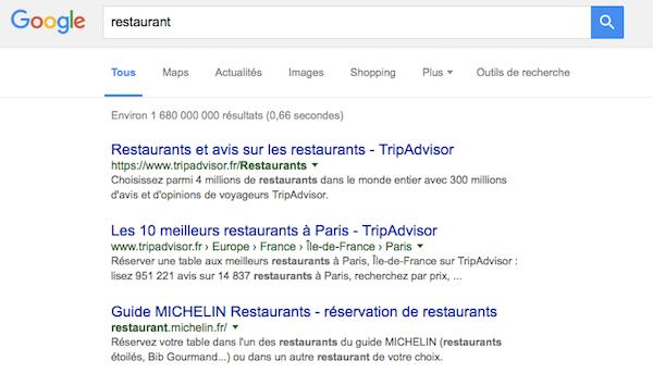 recherche restaurant Google.com Maroc