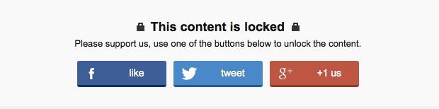 Plugin WP Social Locker